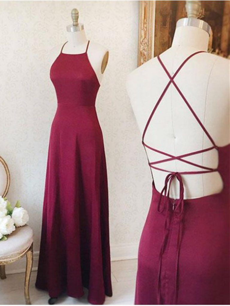 Long cute simple prom dresses
