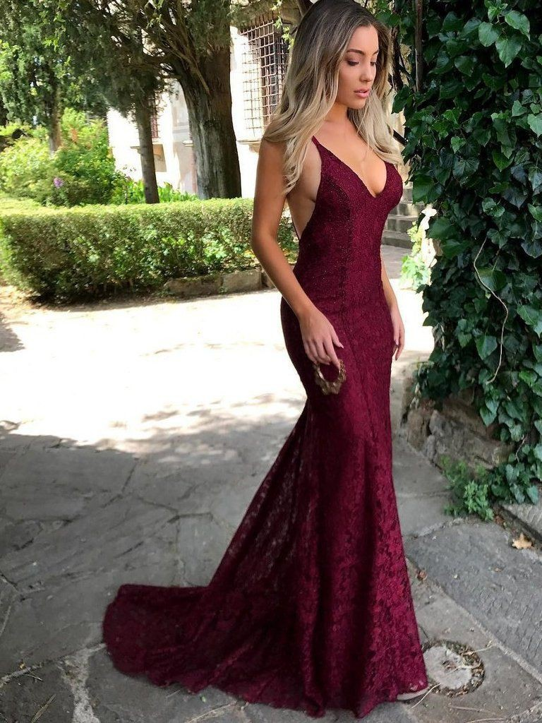 Classy outfit burgundy prom dresses bridal party dress, spaghetti strap