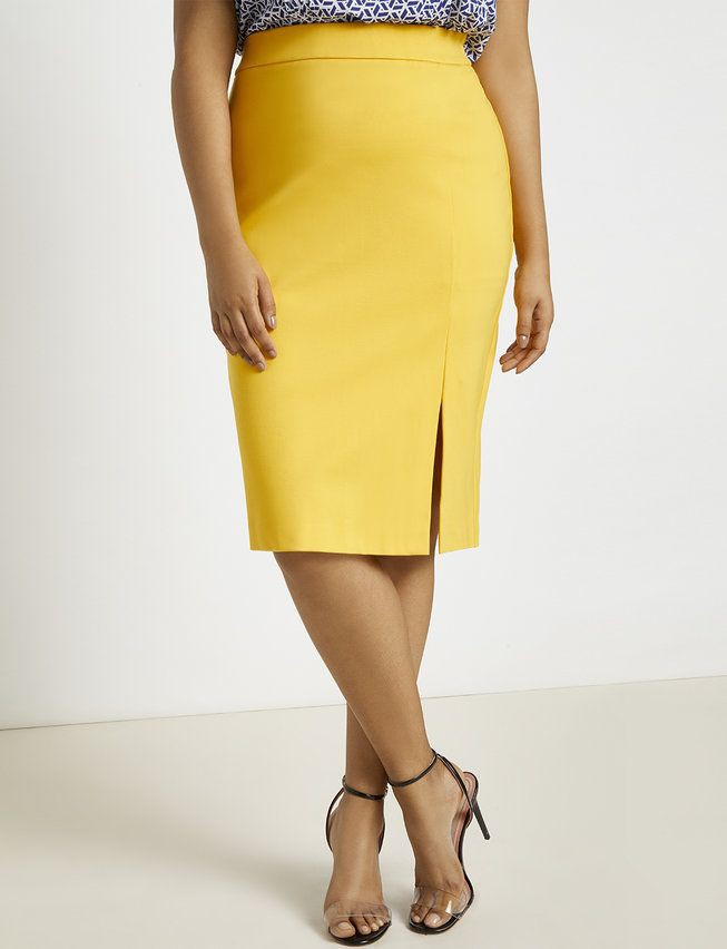 Yellow and beige outfit Pinterest with pencil skirt, miniskirt, skirt