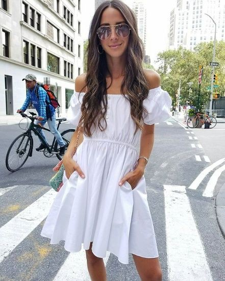 White colour outfit with