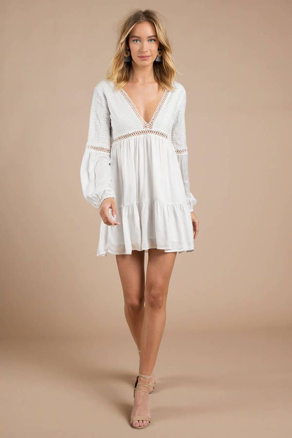 White trendy clothing ideas with cocktail dress, boho dress