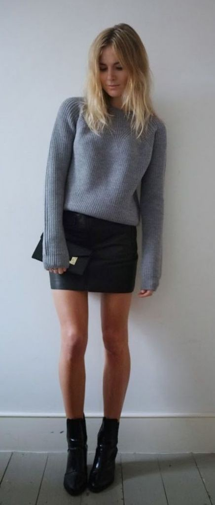 J crew black wool mini skirt
