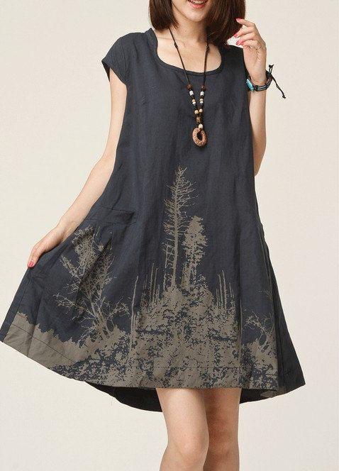 Colour ideas sommerkleider leinen baumwolle, cocktail dress, fashion model, day dress