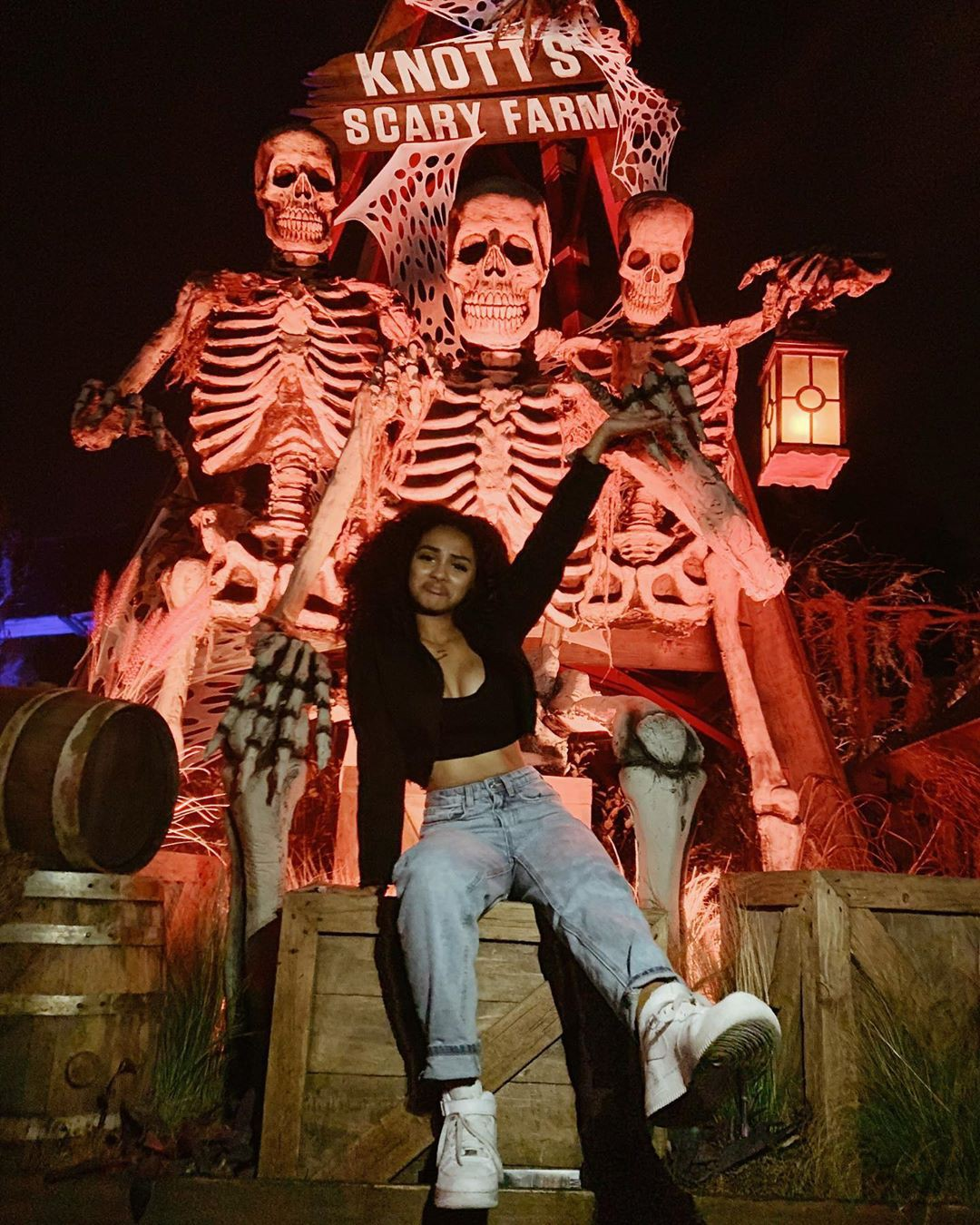 Daniella Perkins having fun, theatrical property, performance art