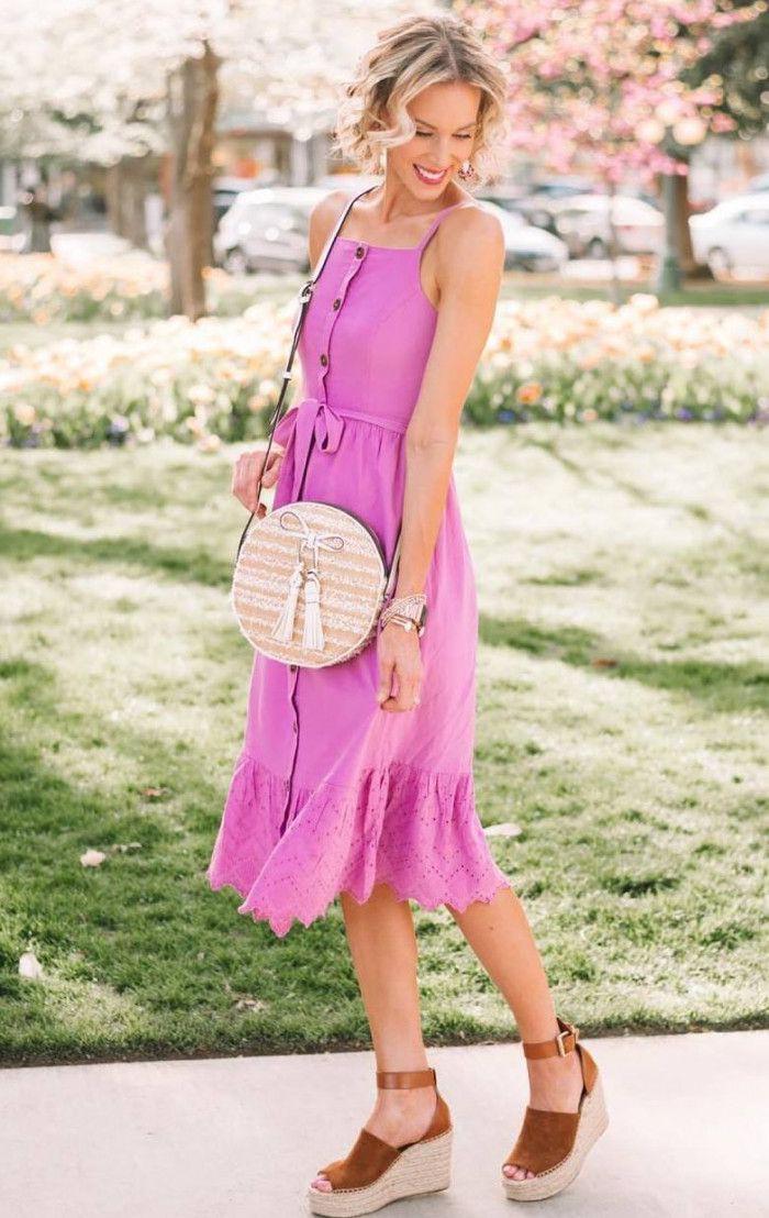 Magenta and purple colour ideas with cocktail dress, dress handbag, sandal, shoe
