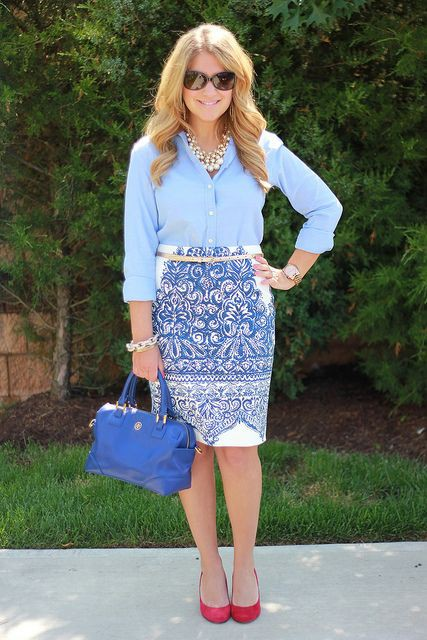 Electric blue and cobalt blue colour outfit, you must try with pencil skirt, trousers, jacket