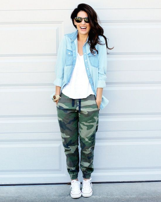 Camo joggers outfit