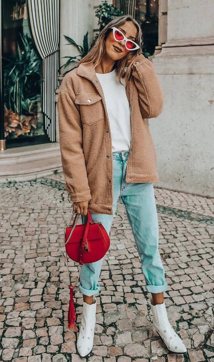 Pink colour combination with mom jeans, leggings, jacket