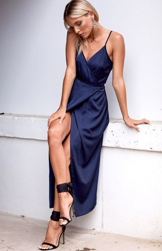 Cobalt blue and blue colour outfit with cocktail dress, wedding dress, evening gown formal wear