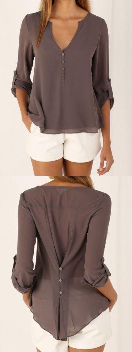 Blusas recogidas atrás, casual wear, t shirt