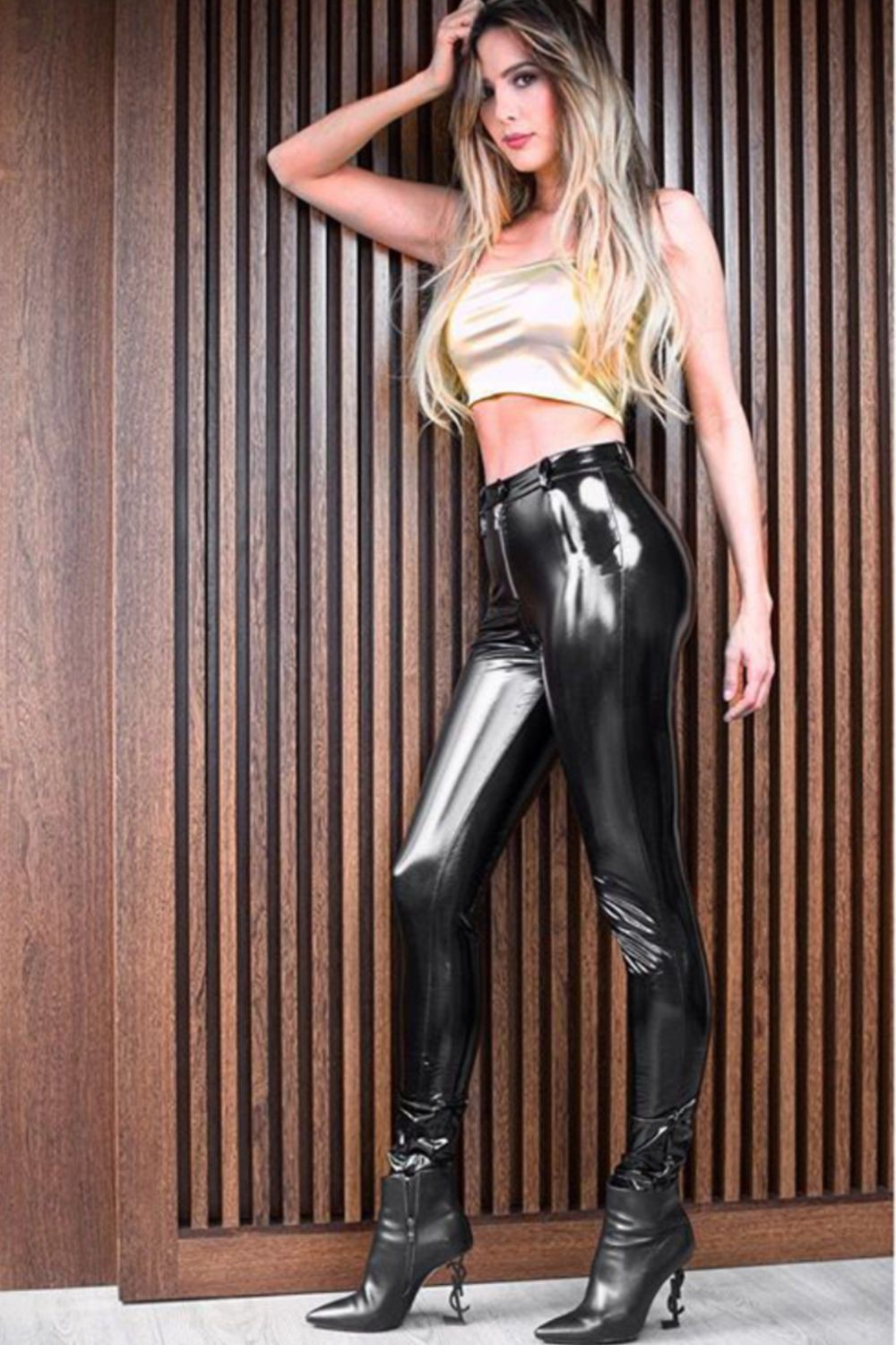 Colour outfit ideas 2020 with latex clothing, trousers, leggings