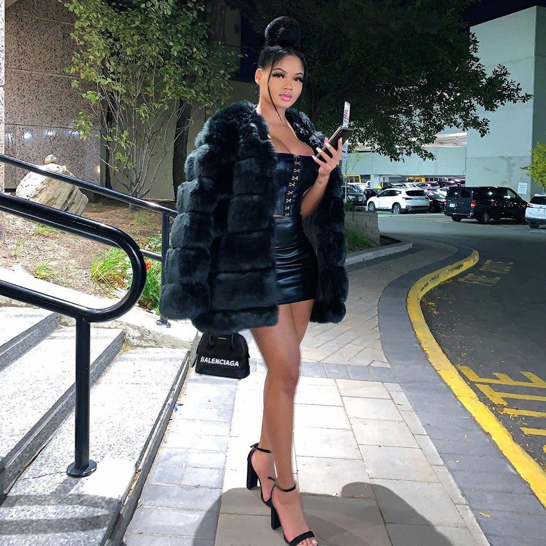 Filipina X Ghanaian jacket, fur dresses ideas, girls instagram photos
