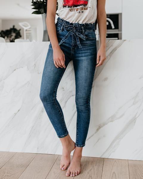 Best paperbag waist skinny jeans