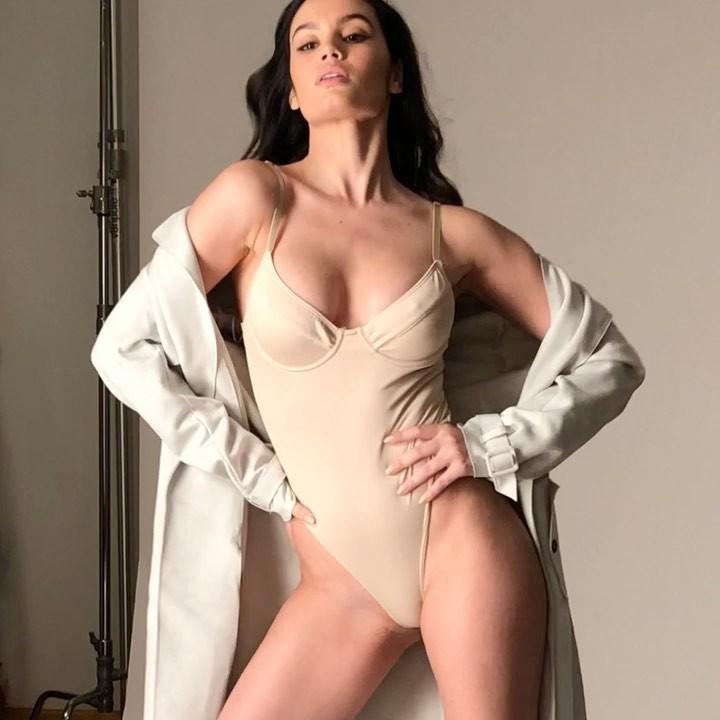 Anne De Paula lingerie fetish model colour outfit, hot legs