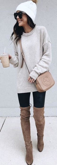 Dresses ideas beige crossbody outfit, casual wear, riding boot