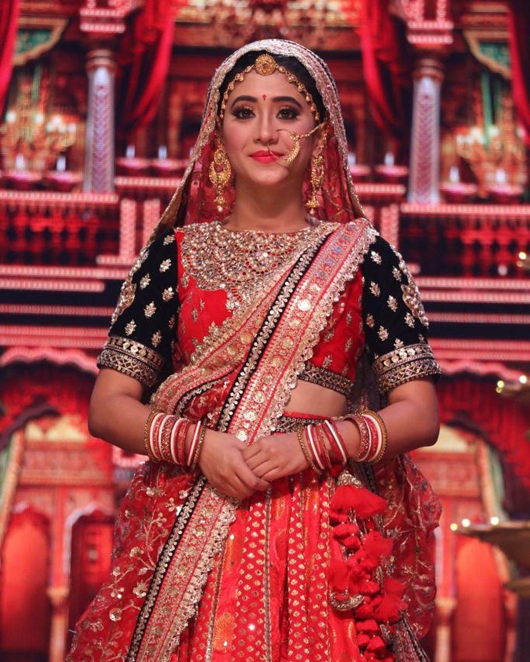 Maroon and pink formal wear, sari, jewellery