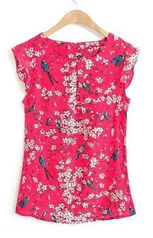 Blusa sem mangas estampada, sleeveless shirt, day dress, t shirt