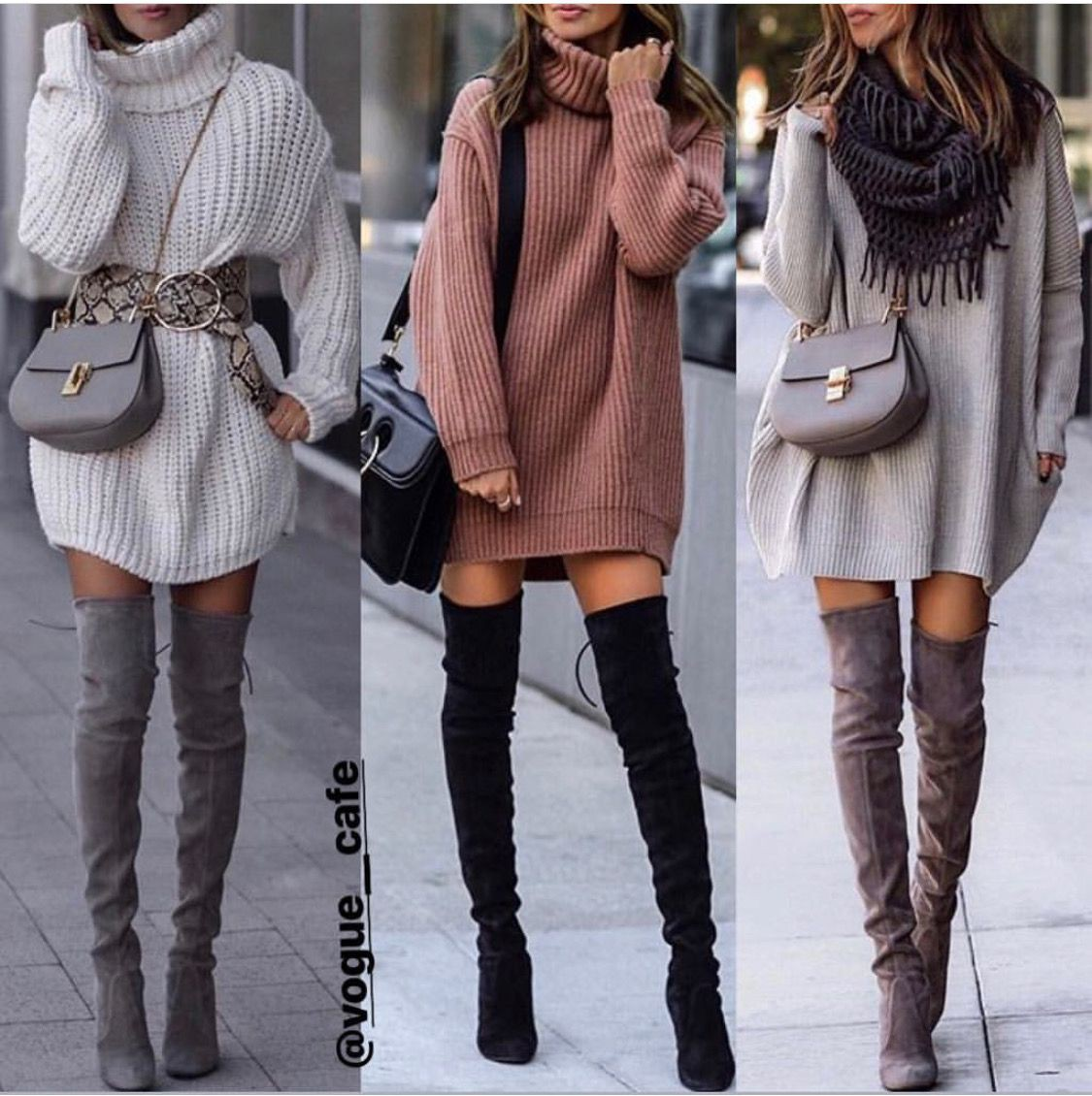 Designer outfit with sweater