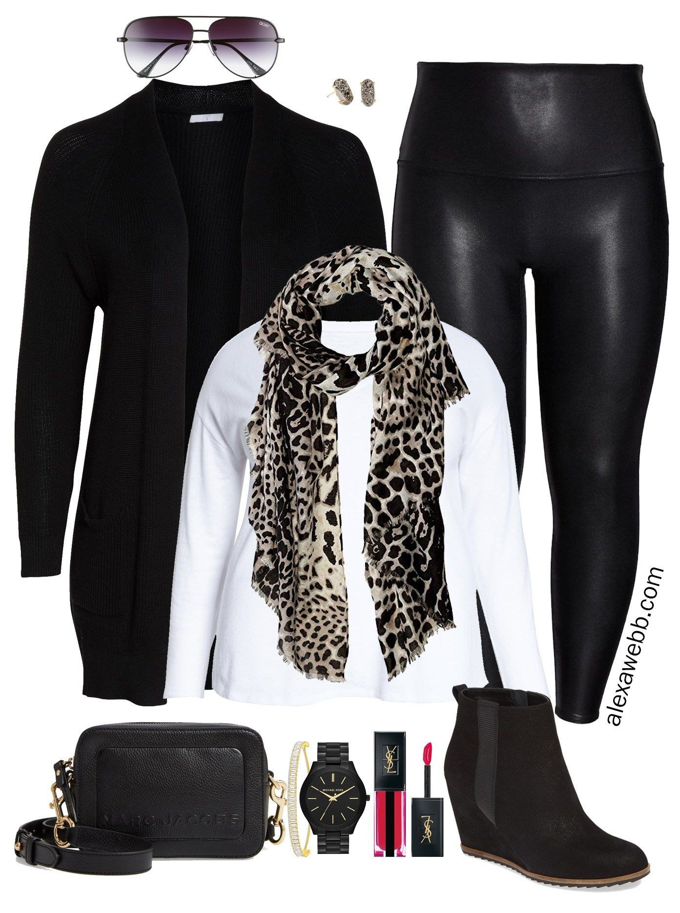 Leather legging outfit plus size
