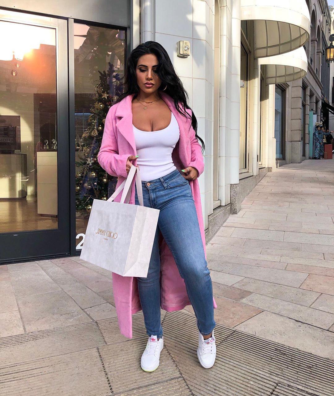 pink colour ideas with blazer, denim, jeans