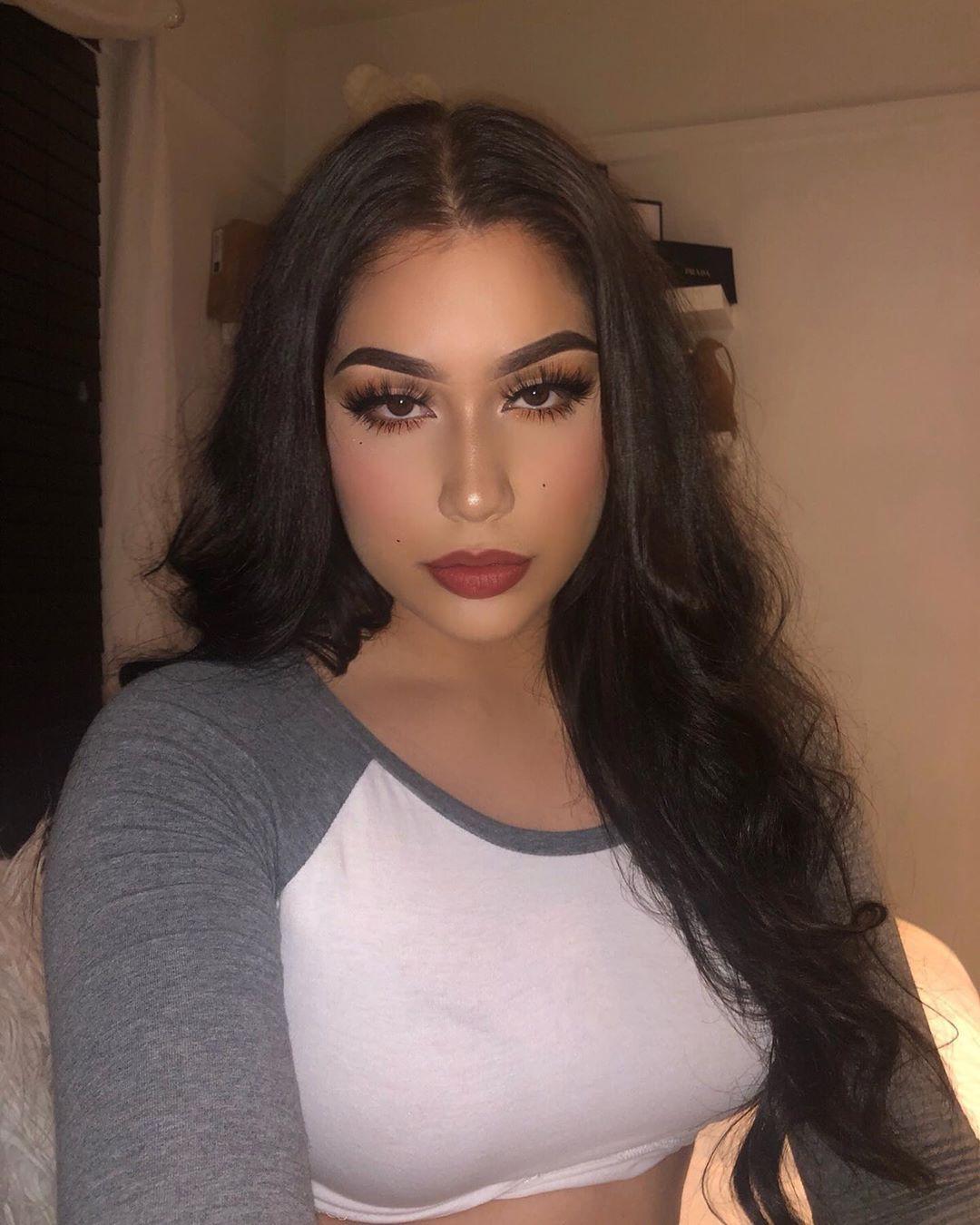 Alondra Mendoza Black Hairstyle For Girls, Beautiful And Cute Girls, Natural Glossy Lips