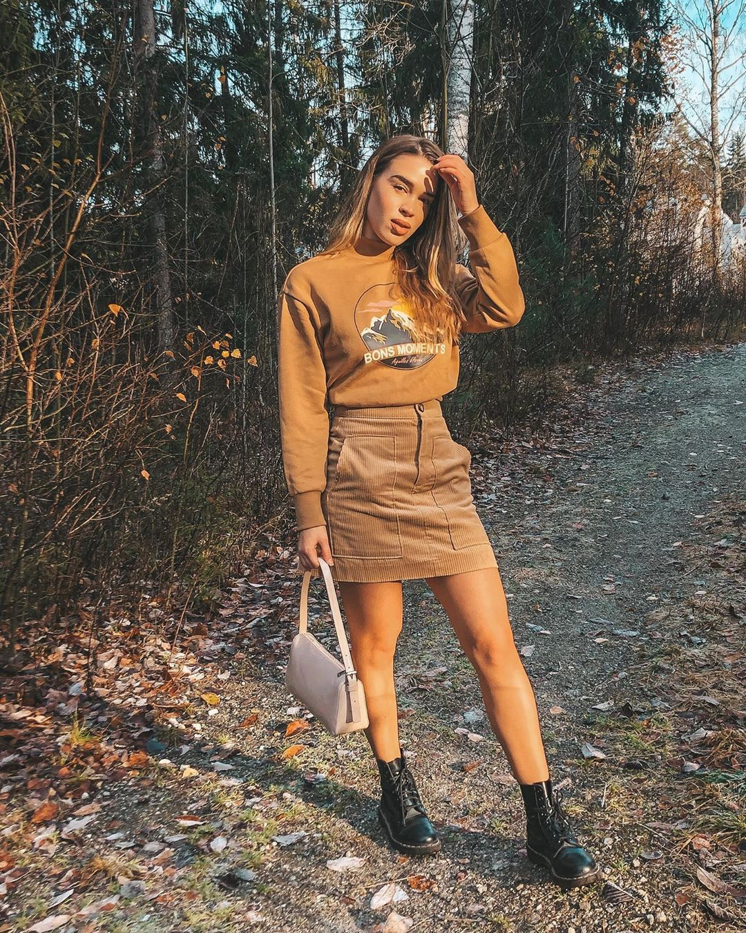 Orange and brown dress, girls photoshoot, fashion tips