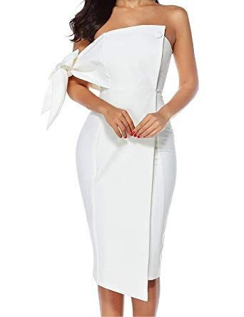 White outfit ideas with cocktail dress, wedding dress, evening gown