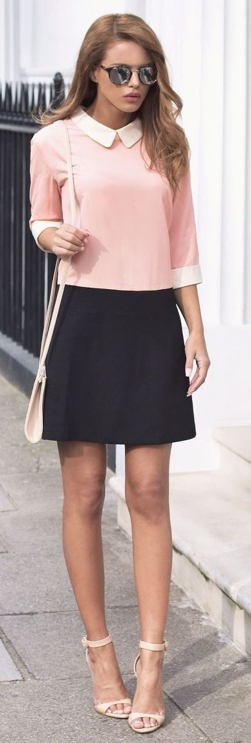 Brown and black outfit Stylevore with skirt, top, casual wear