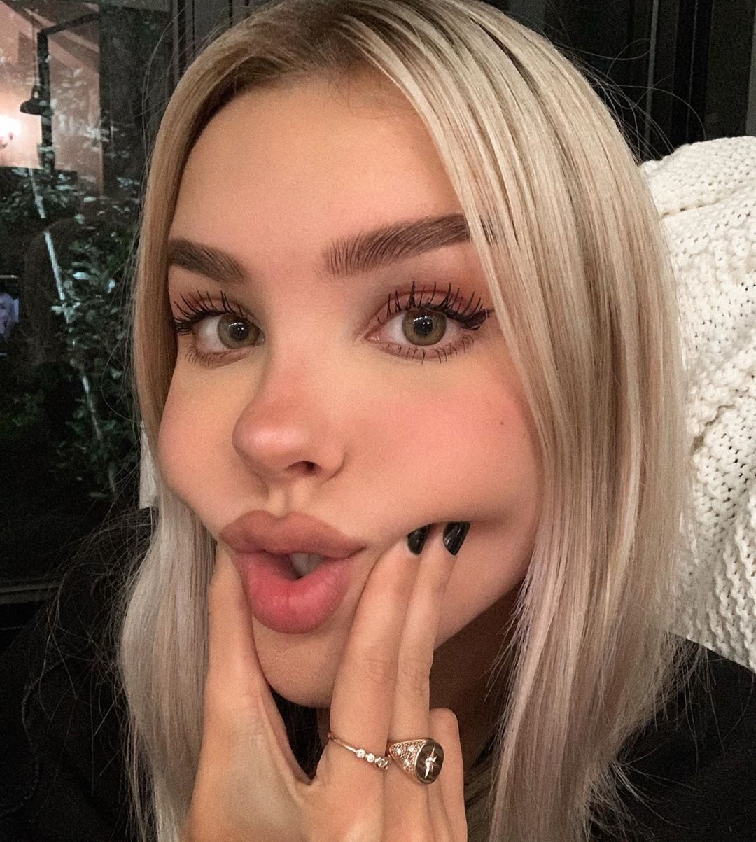 Maria Domark blond hairs pic, Lovely Face, Natural Lips