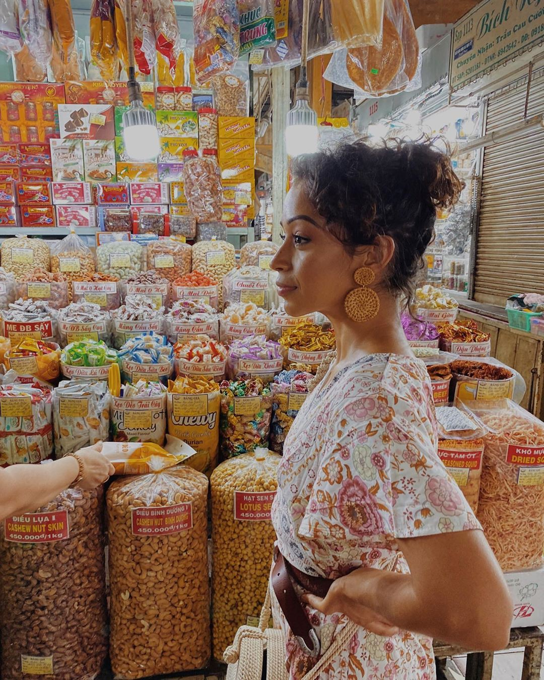 Liza Koshy Outerwear, human settlement, grocery store