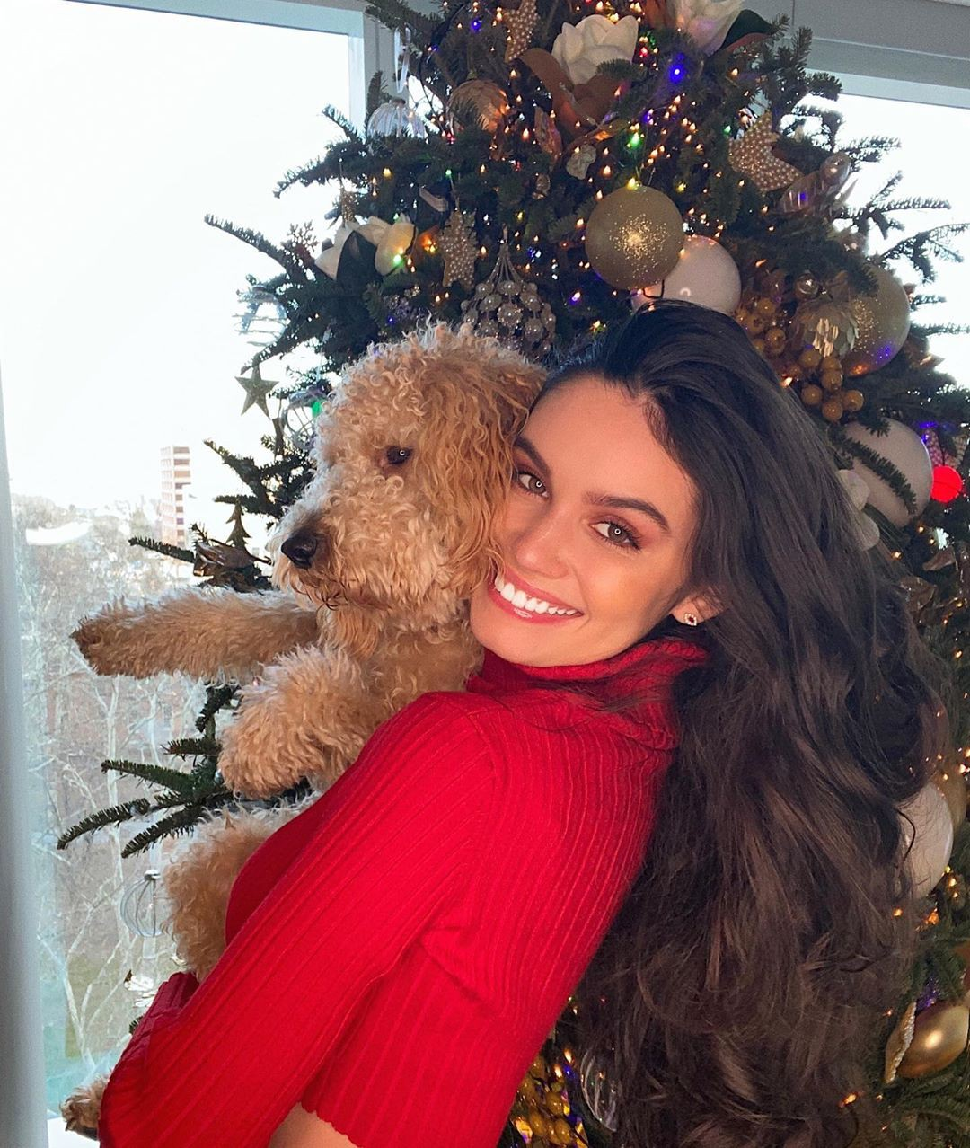 Anne De Paula Long Layered Hair, christmas decoration, christmas ornament