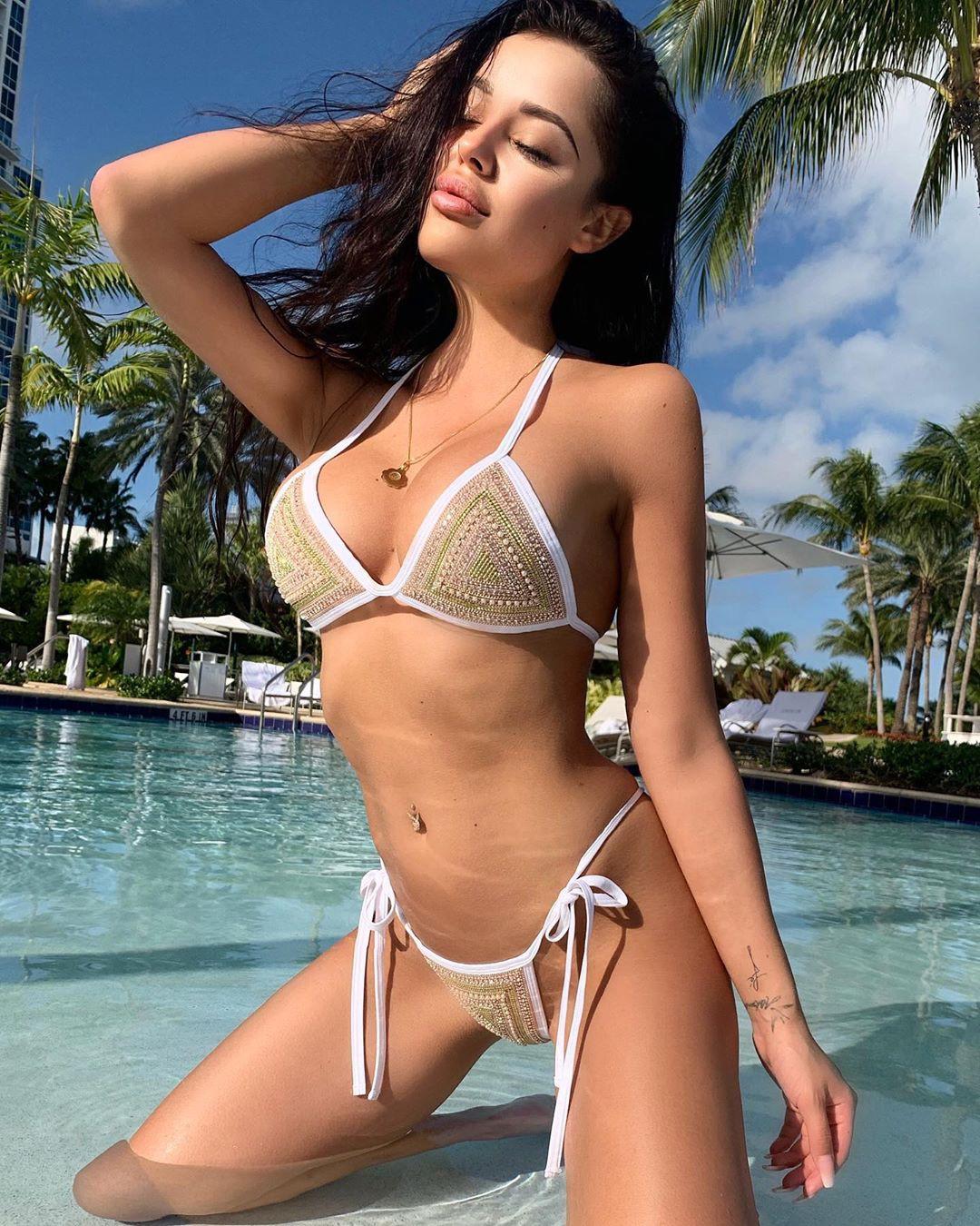 Playmate Kamila hot photo, hot lingerie model, sexy bikini models swimsuit top, swimwear colour  ...