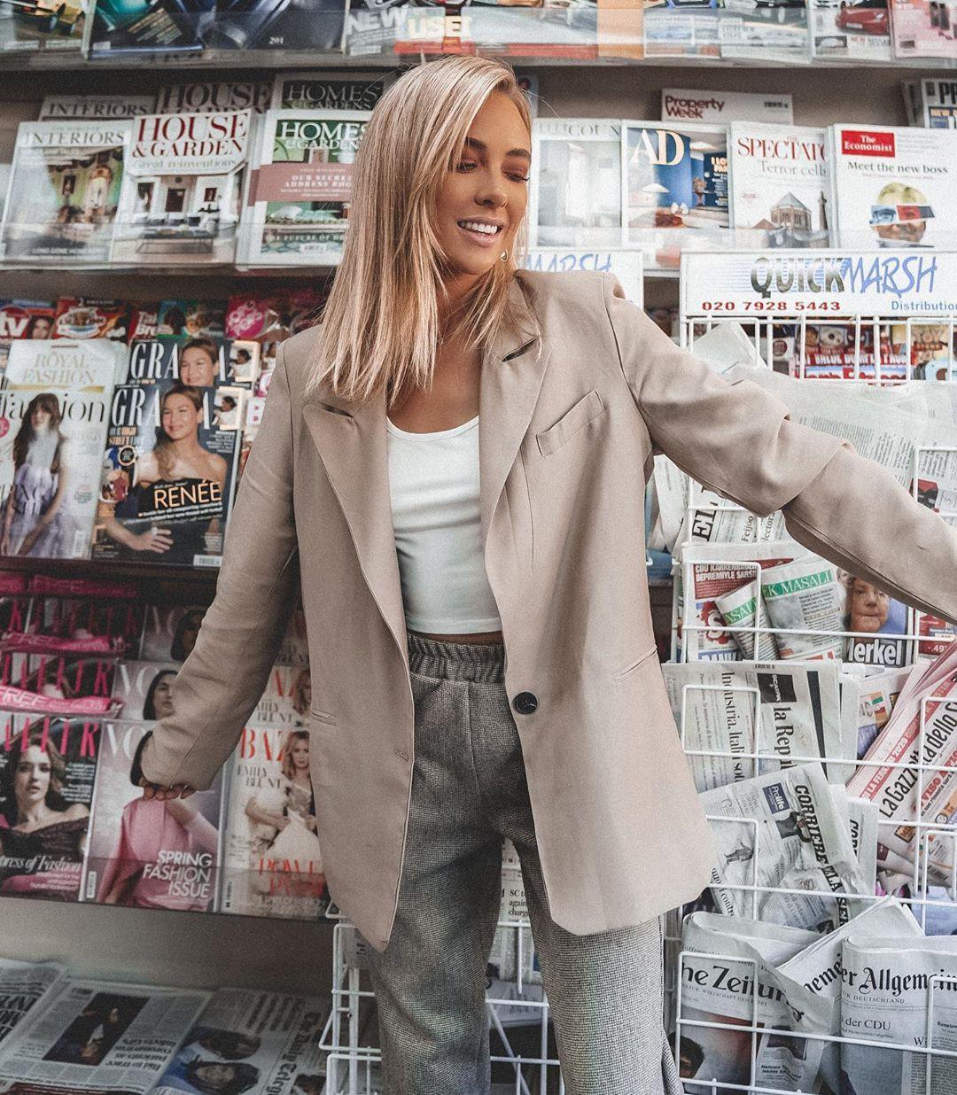 Nicola Hughes blazer, jacket, coat outfit pinterest