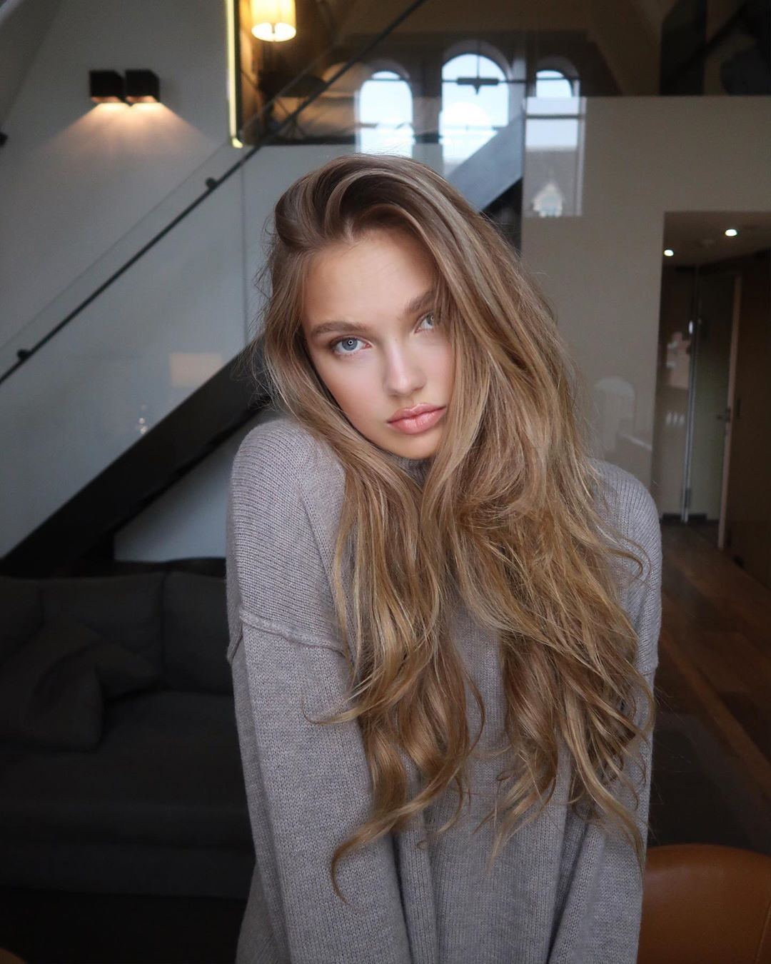 Romee Strijd cute blond hairs, Cute Face, Natural Lipstick