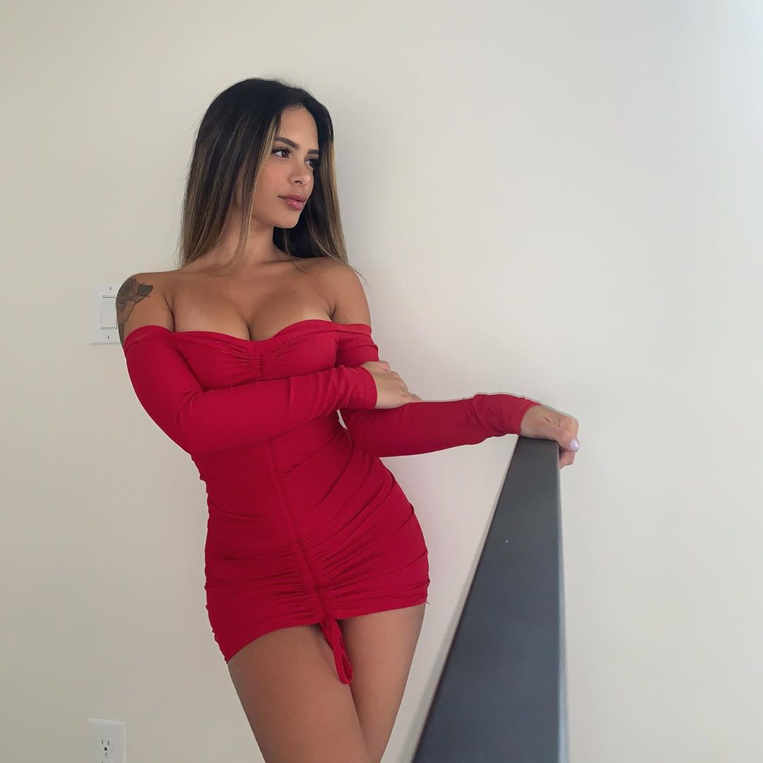 Daniela Lanio cocktail dress matching dress, smooth thigh pics