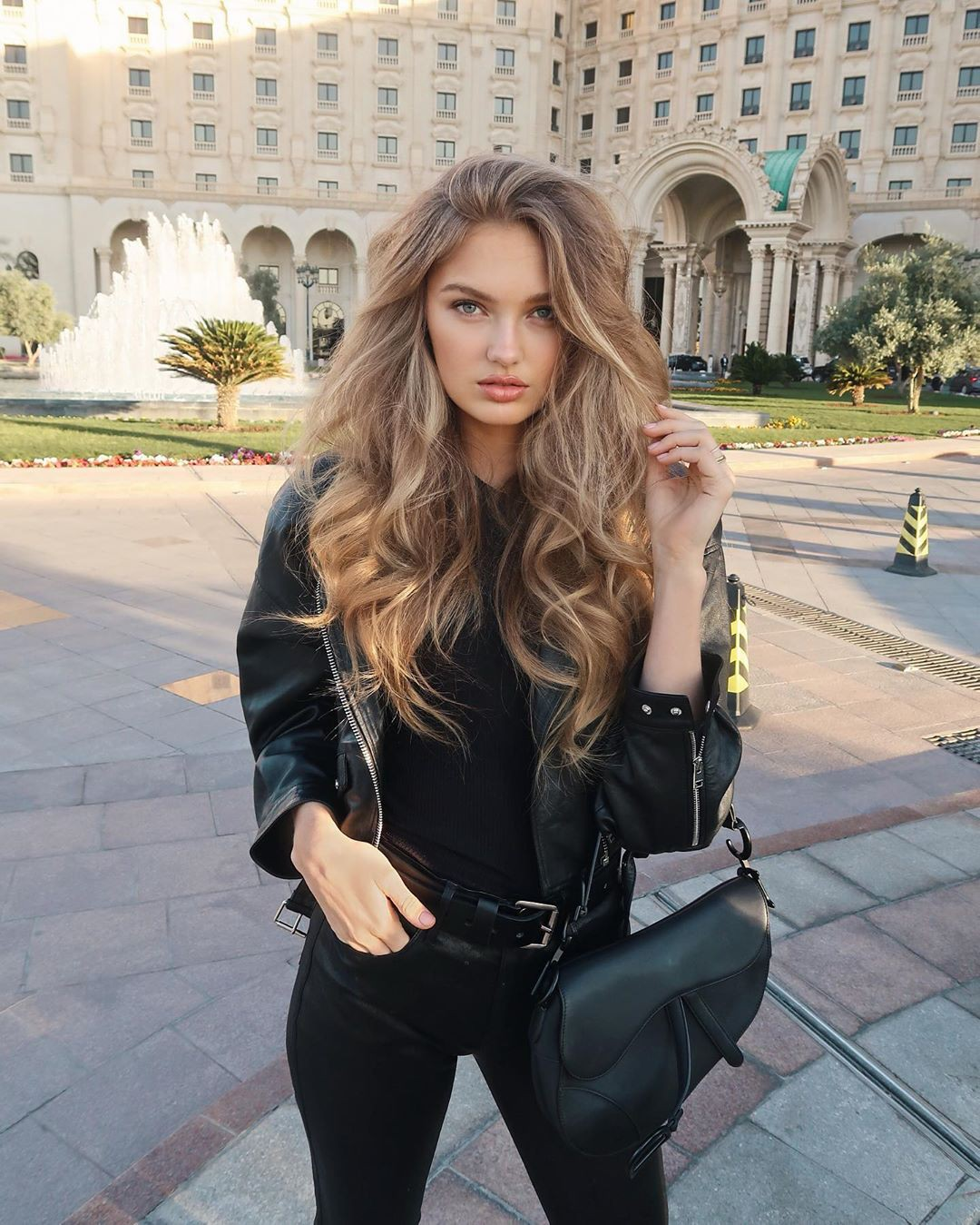 black dress for women with leather leather, photography ideas, Beautiful Lips