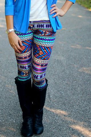 Colorful legging with at shirt