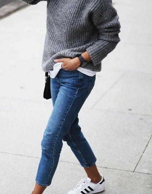 Blue lookbook fashion with fashion accessory, sweater, denim