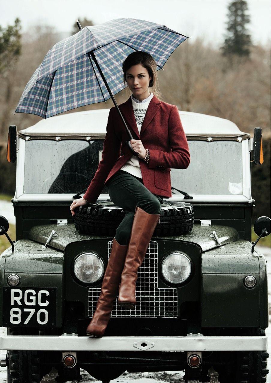 Womens classic british style little black dress, off road vehicle