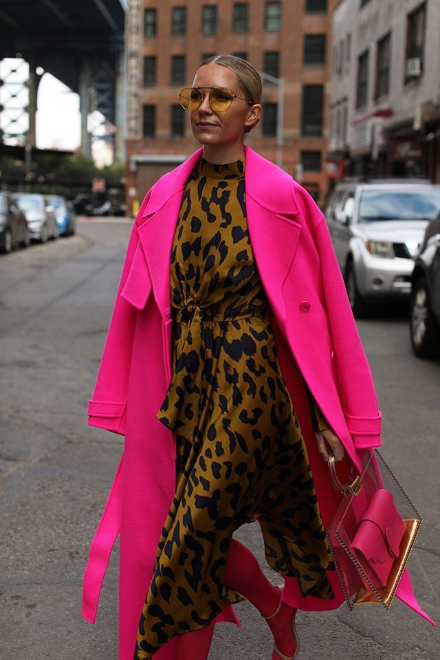 Magenta and pink trendy clothing ideas with dress trench coat, coat, fur