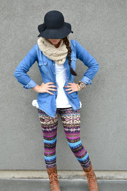 Lularoe blue rose leggings outfit