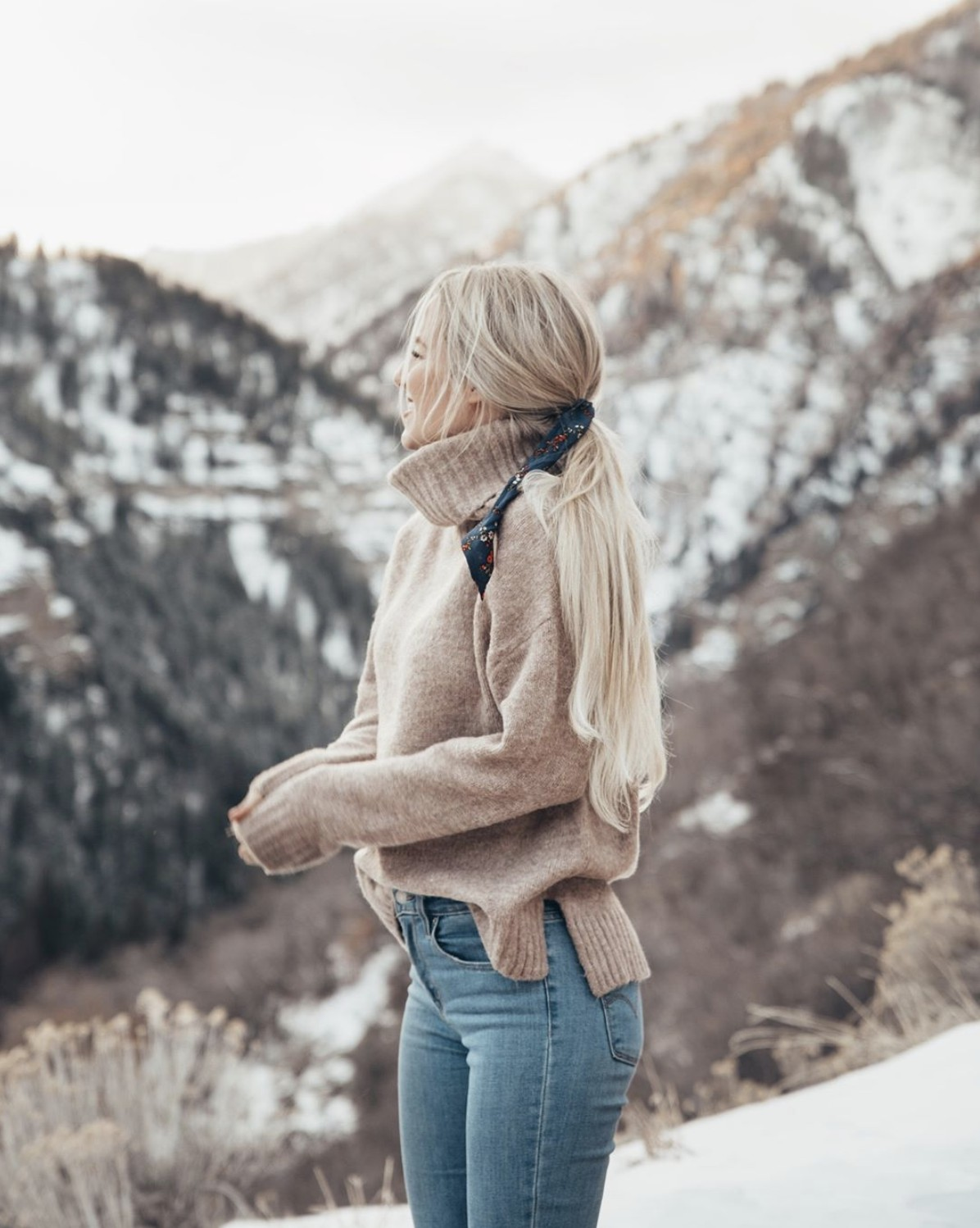 Outfit style with wedding dress, fur clothing, sweater, jacket