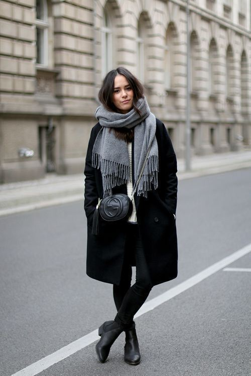 Style outfit black coat outfits black and white, winter clothing