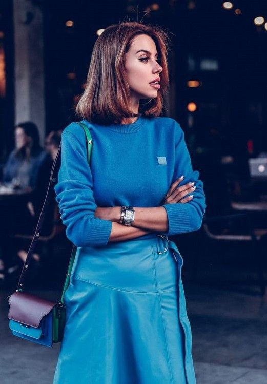 Electric blue and cobalt blue outfit ideas with dress, ralph lauren corporation, fashion model