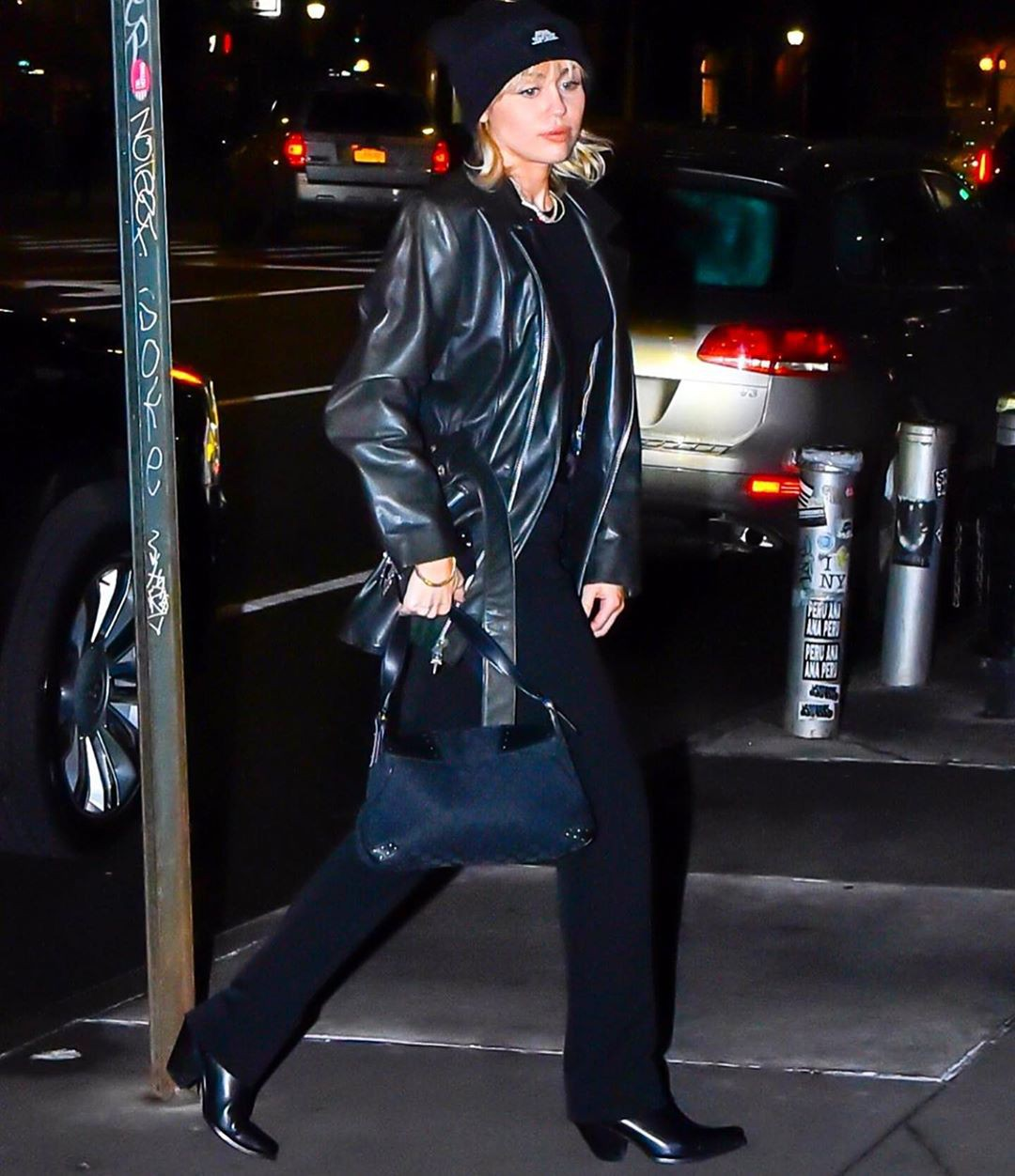 mileycyrus latex clothing, leather, tights style outfit