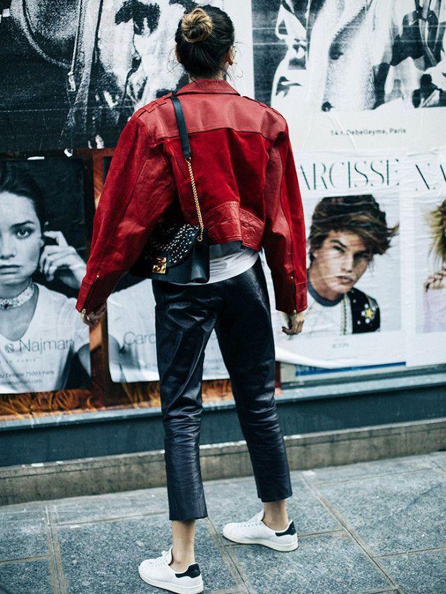 Big leather jacket fashion 1980s in fashion, street fashion