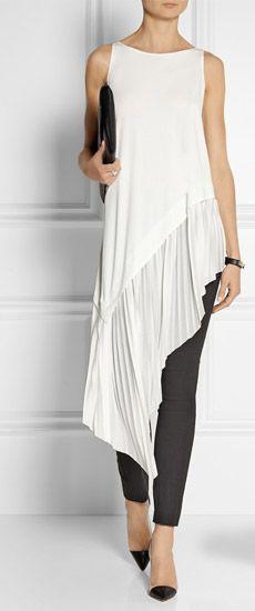 Instagram fashion asymmetrical tunic dress, casual wear