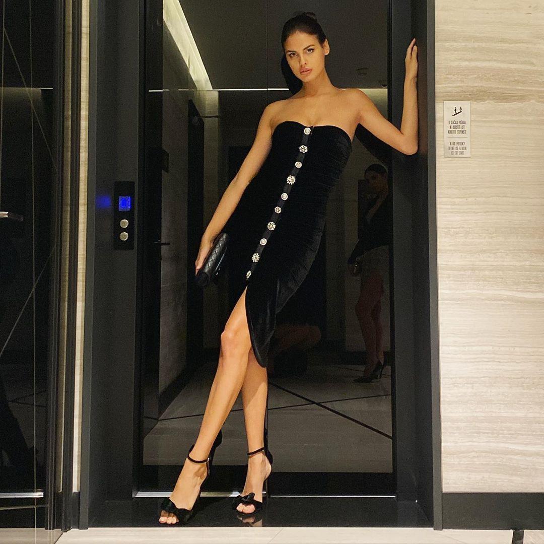 Bojana Krsmanovic cocktail dress little black dress colour combination
