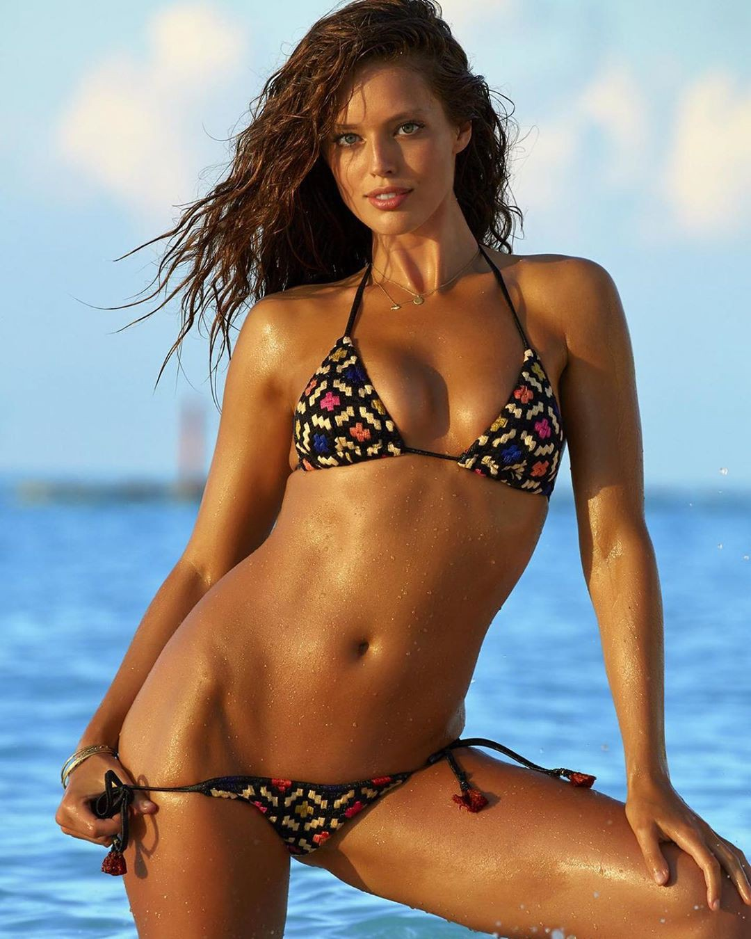 Emily DiDonato lingerie, bikini swimsuit top, swimwear dress for girls