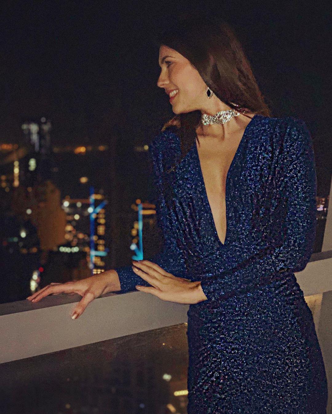 Electric blue and cobalt blue dress formal wear, attire ideas